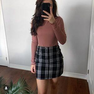 Plaid Mini Skirt   Hollister